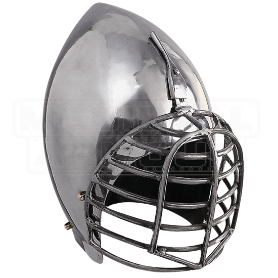 French Bascinet Sports Helm with Wire Mask