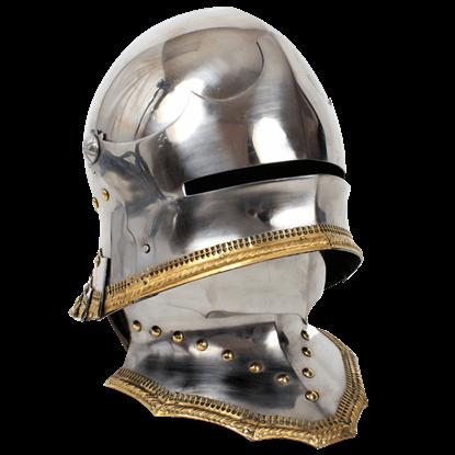 German Gothic Sallet Helmet With Bevor