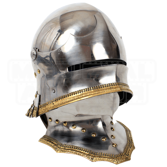 German Gothic Sallet Helmet With Bevor