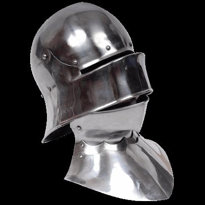Gothic Sallet Helmet With Bevor