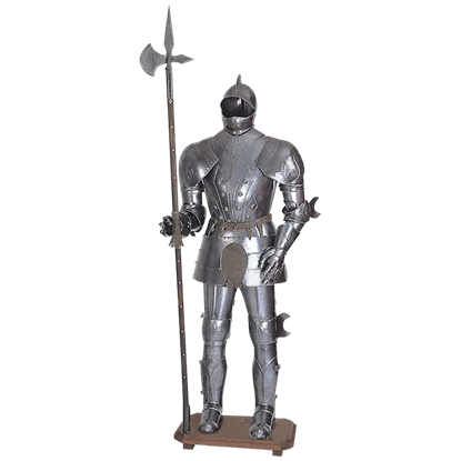Closed Sallet Suit Of Armor Display