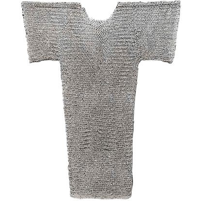 Riveted Flat Steel Chainmail Hauberk