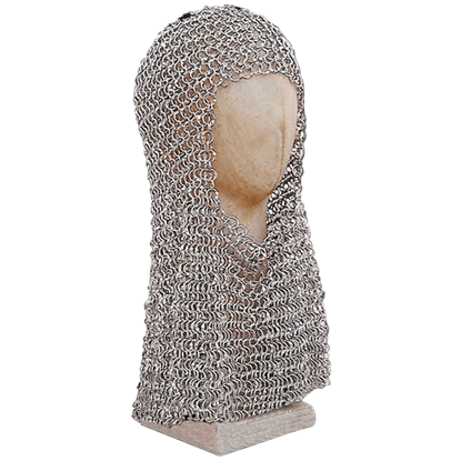 Riveted Flat Steel Chainmail Coif
