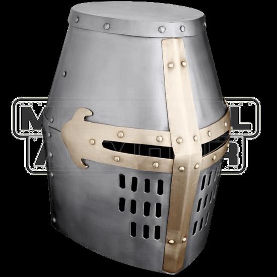 Brass Trim Crusader Great Helm