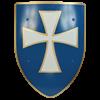 White Cross Steel Battle Shield