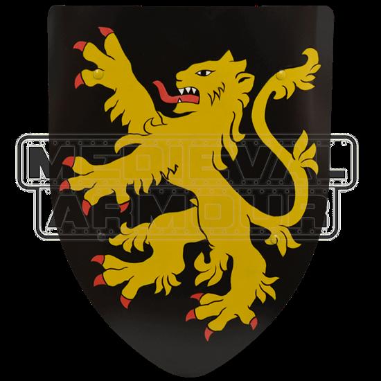 Rampant Lion Steel Battle Shield