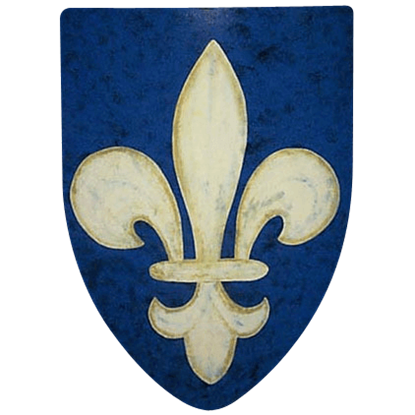 Fleur de Lis Steel Battle Shield