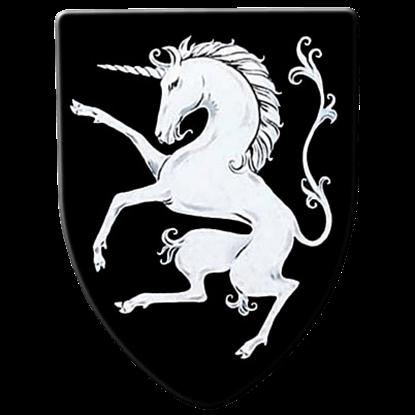 Rampant Unicorn Steel Battle Shield