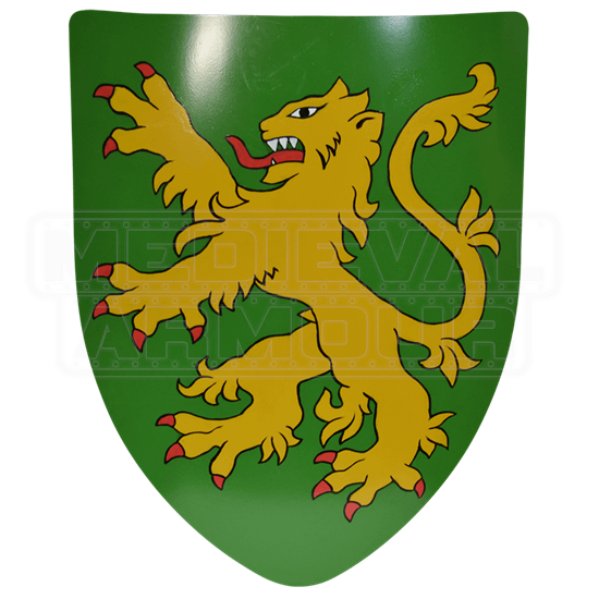 Rampant Lion Steel Battle Shield