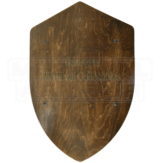 Dark Finished Wooden Battle Shield
