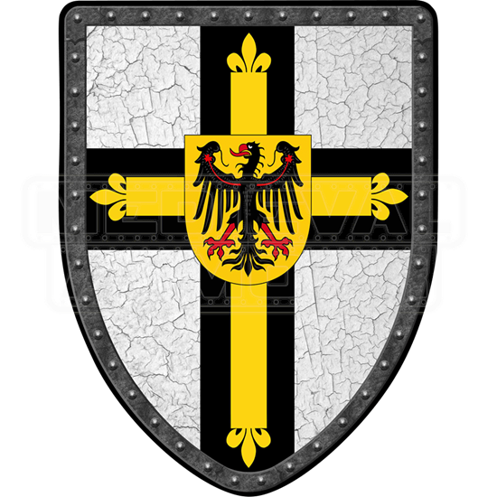 Teutonic Cross Steel Battle Shield