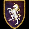 Unicorn on Purple Steel Battle Shield