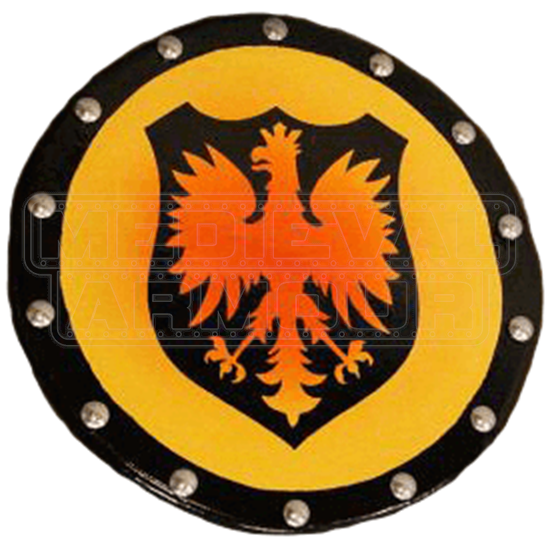 Wooden Heraldic Eagle Buckler Shield