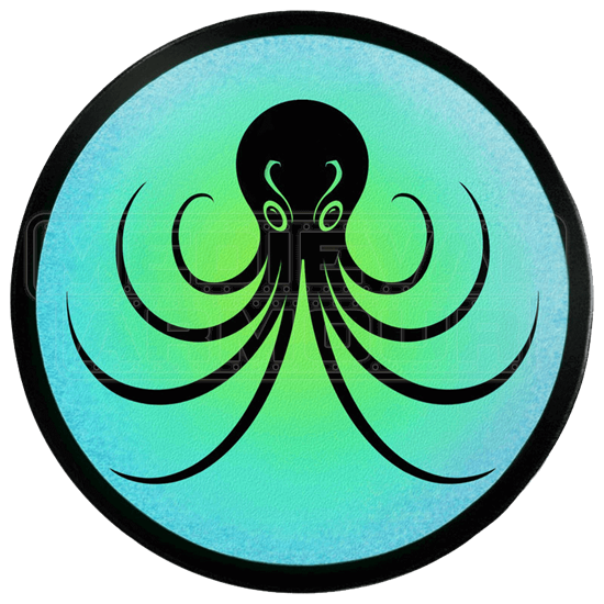 Round Octopus Wooden Shield