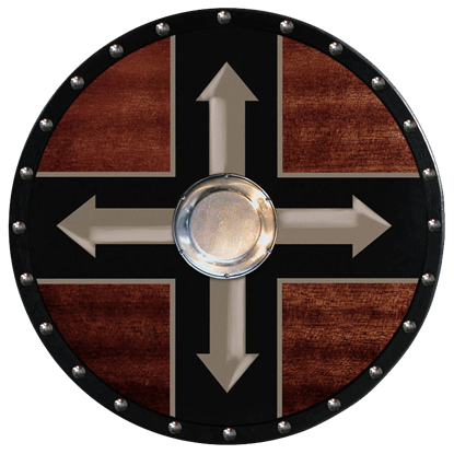 Wooden Viking Berserker Shield (Four Arrows)