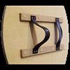 Round Viking Dragon Wooden Shield