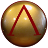 Greek Gold Lambda Steel Shield