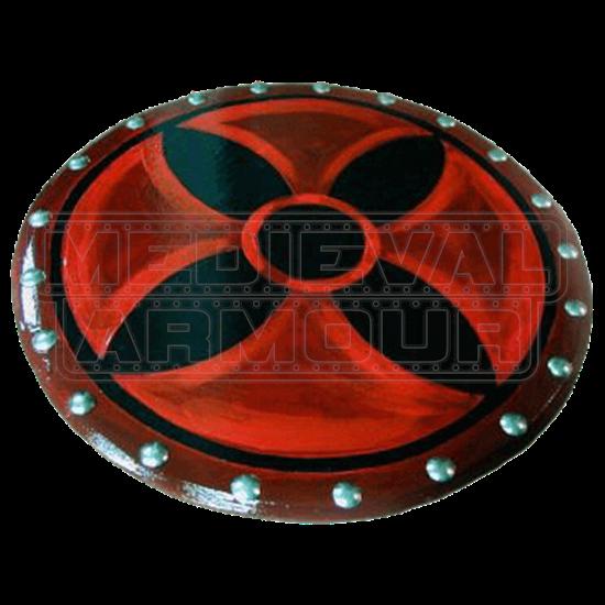Wooden Vampire Cross Shield