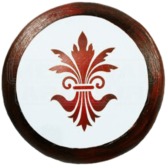 Wooden Fleur De Lis Buckler Shield