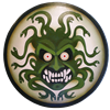 Wooden Greek Medusa Shield
