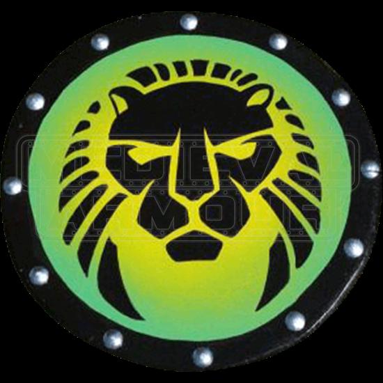 Wooden Lion Head Buckler Shield