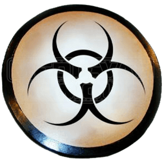 Wooden Biohazard Shield