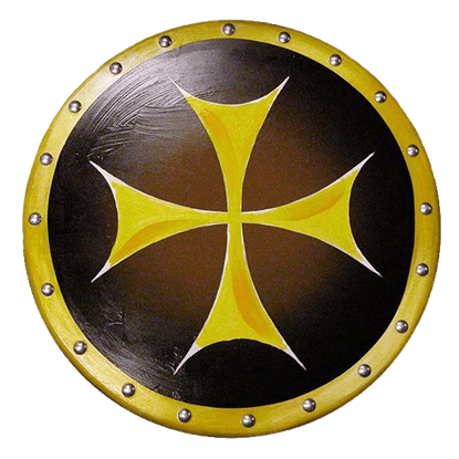 Wooden Knights Cross Shield