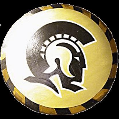Wooden Gold Trojan Warrior Shield