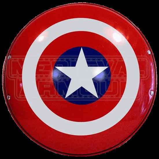 Steel Captain America Shield