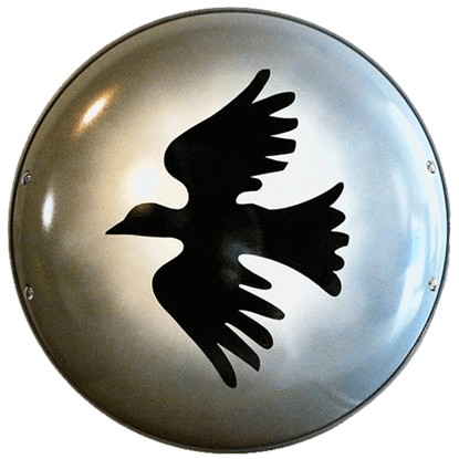 Steel Greek Corinthian Dove Shield