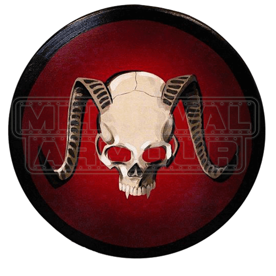 Wooden Demon Skull Shield
