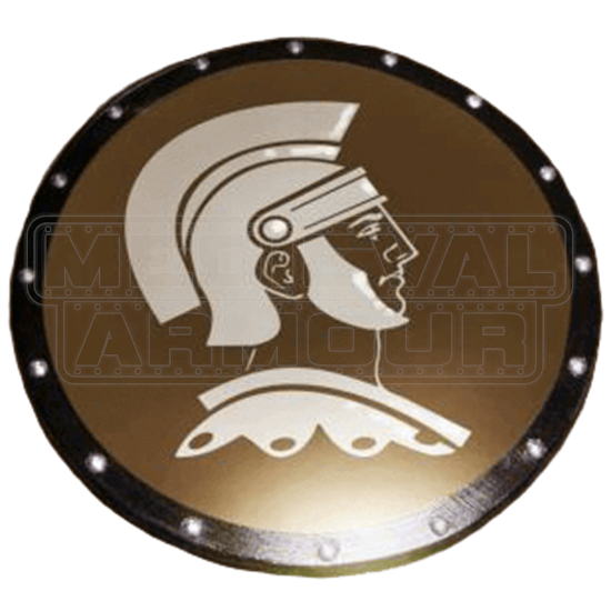 Wooden Spartan Hero Shield
