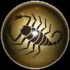 Steel Greek Scorpion Shield