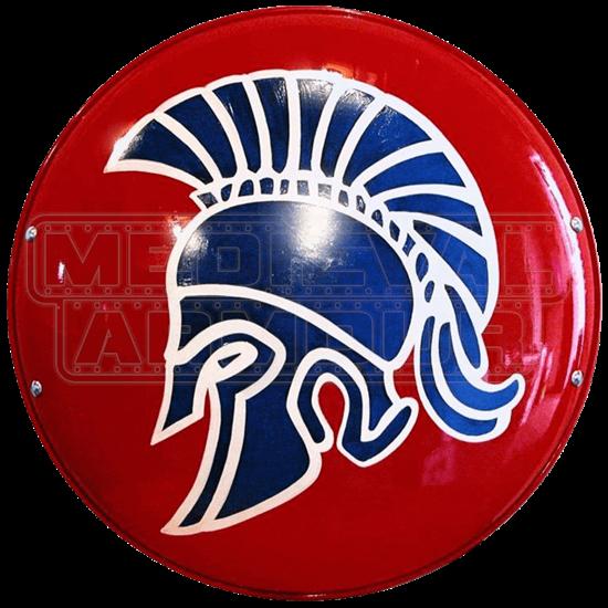 Steel Greek Spartan Shield