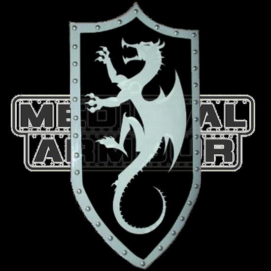 Wooden Silver Dragon Shield