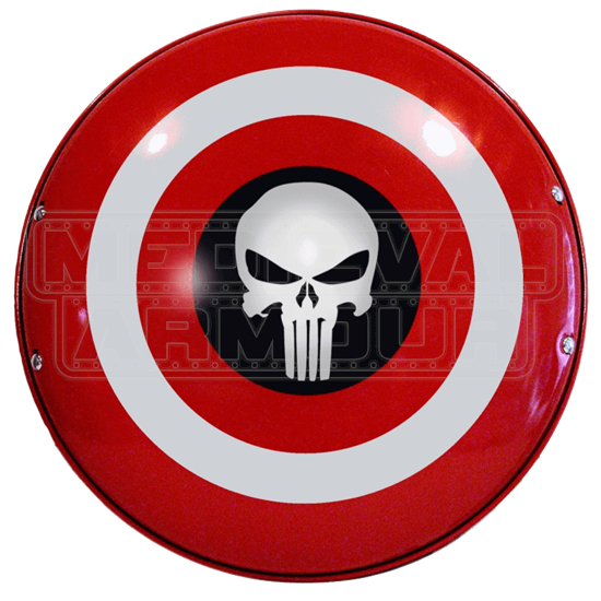 Steel Captain America And Punisher Shield