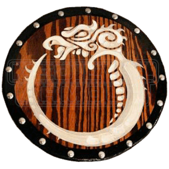 Wooden Celtic Griffin Shield