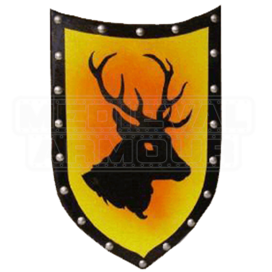 Wooden Stag Shield