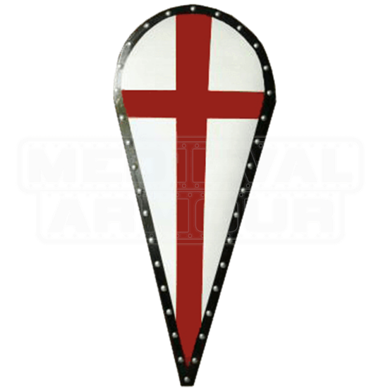 Wooden Red Cross Kite Shield