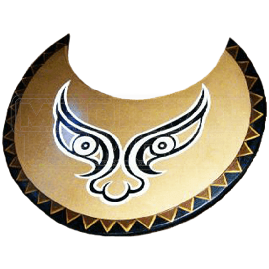 Wooden Greek Bronze Face Shield