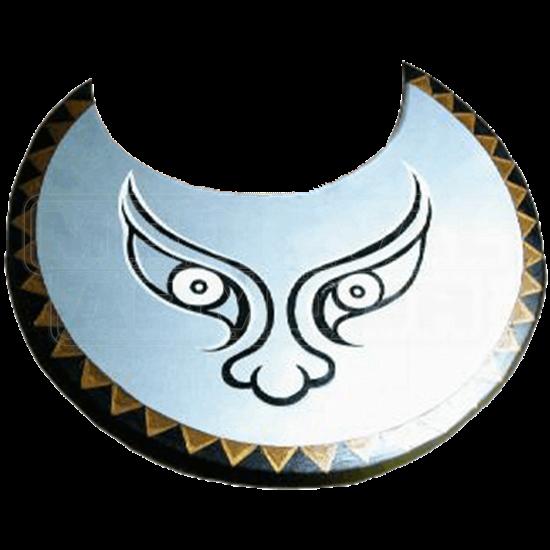 Wooden Greek Silver Face Shield