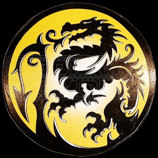 Wooden Imperial Sun Dragon Shield