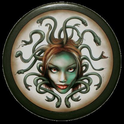 Wooden Medusa Buckler Shield