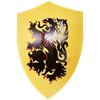 Rampant Lion Medieval Heater Shield
