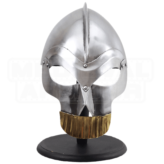 Skull Helmet with Gold Teeth