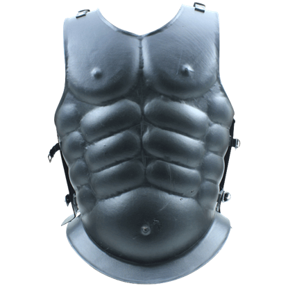 Black Steel Muscle Cuirass