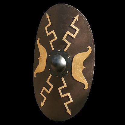 Wooden Oval Roman Shield