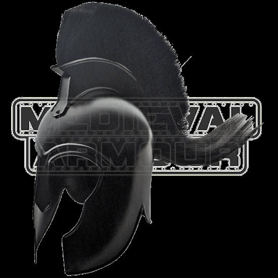 Black Plumed Trojan Helm