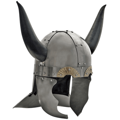 Viking Helmet with Leather Horns
