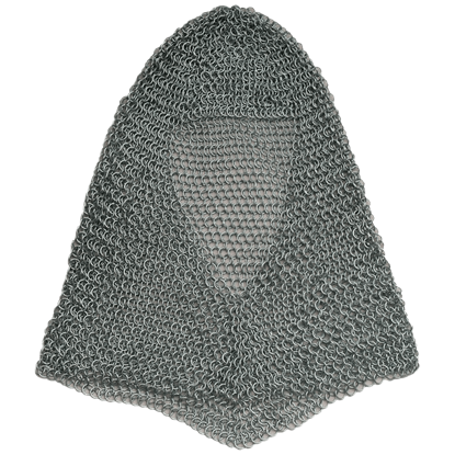 Silver Butted Chainmail Coif